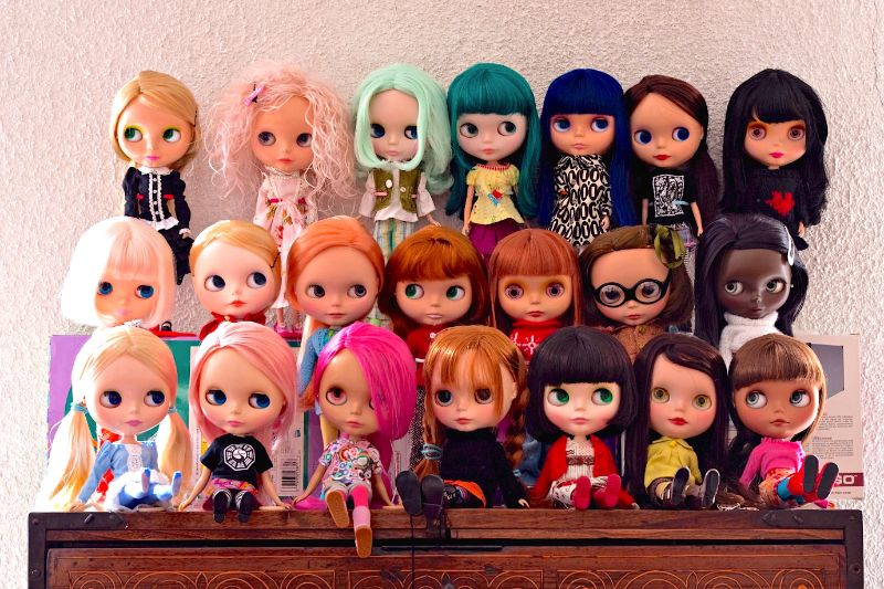 blythe doll collection all colors